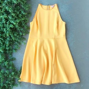 Ted Baker Preeny Yellow Fit & Flare Skater Dress